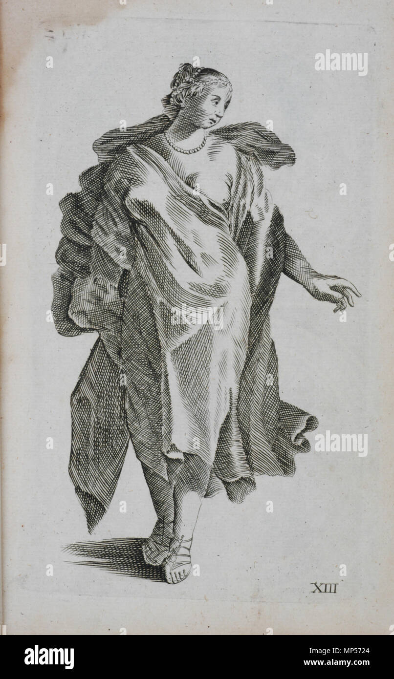 Dessin Representant La Mort xiii la plaque, femme, vêtue . anglais : planche xiii, femme