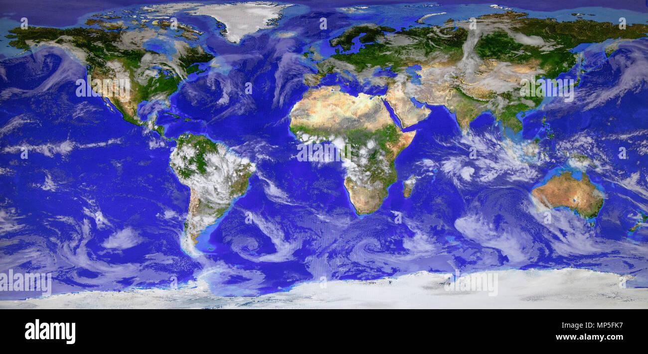 Météo Image satellite de la planète Terre Photo Stock