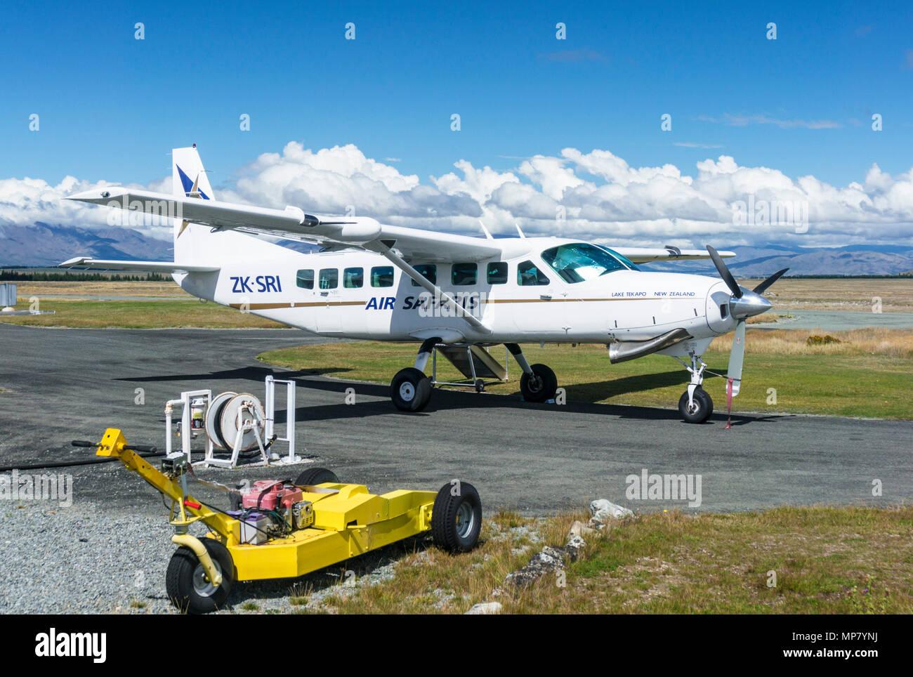 Air safari lac Tekapo vols panoramiques sur le Mont Cook et les glaciers du district du Mackenzie et la région de l'île du sud Nouvelle-zélande nz Photo Stock