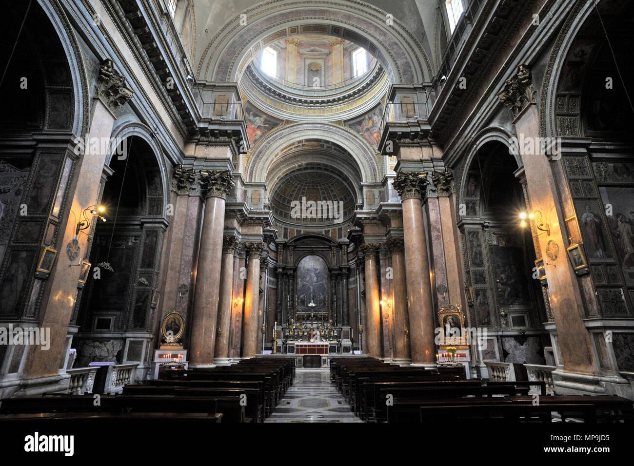 Italie, Rome, l'église de la Sainte Trinité des Pèlerins, la Santissima Trinità dei Pellegrini Photo Stock
