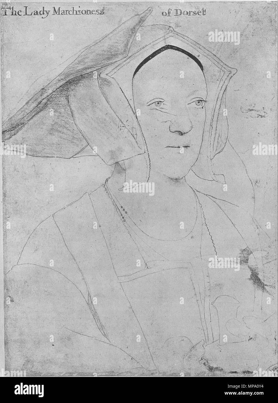 Anglais Portrait De Margaret Marquise De Dorset Les Craies De