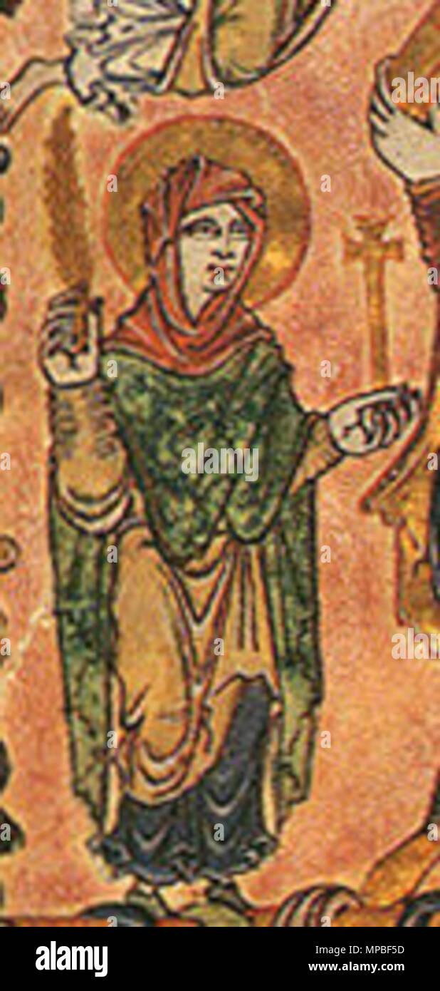 . Détail de la Vierge Marie . 966. 923 Inconnu 966 Nouvelle Charte Minster détail Marie Photo Stock