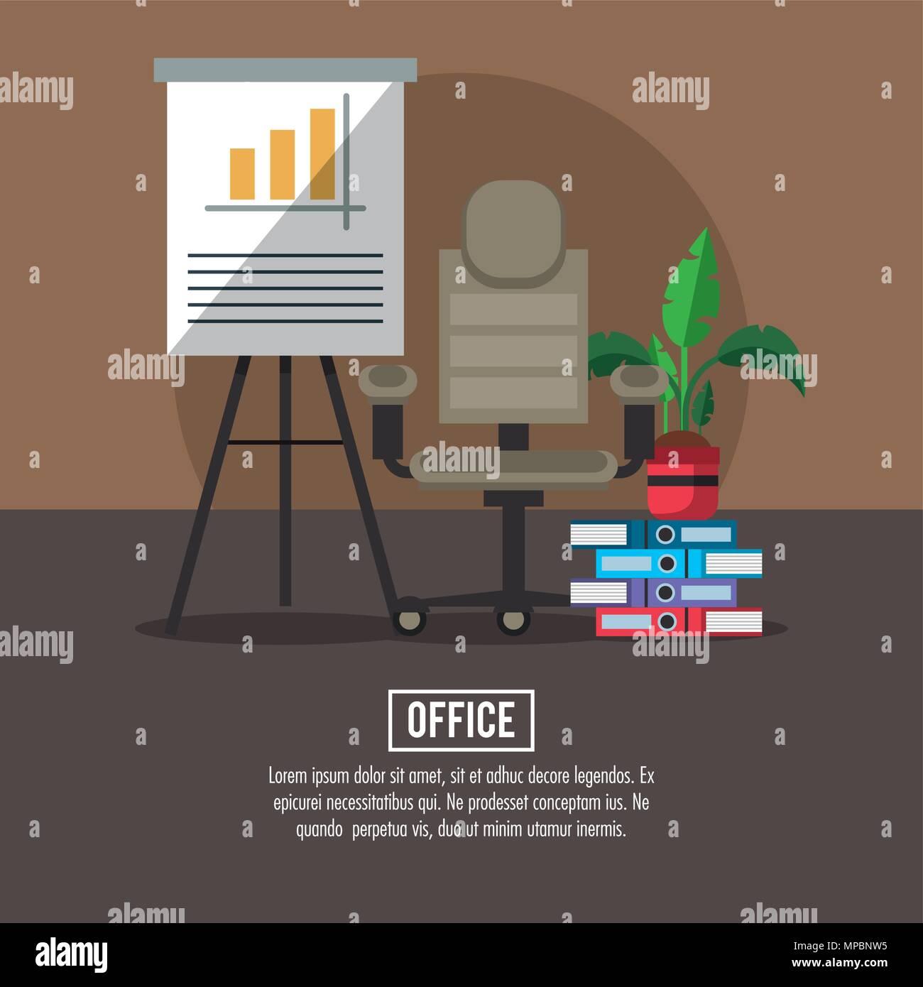 Concept de poste de travail de bureau Illustration de Vecteur