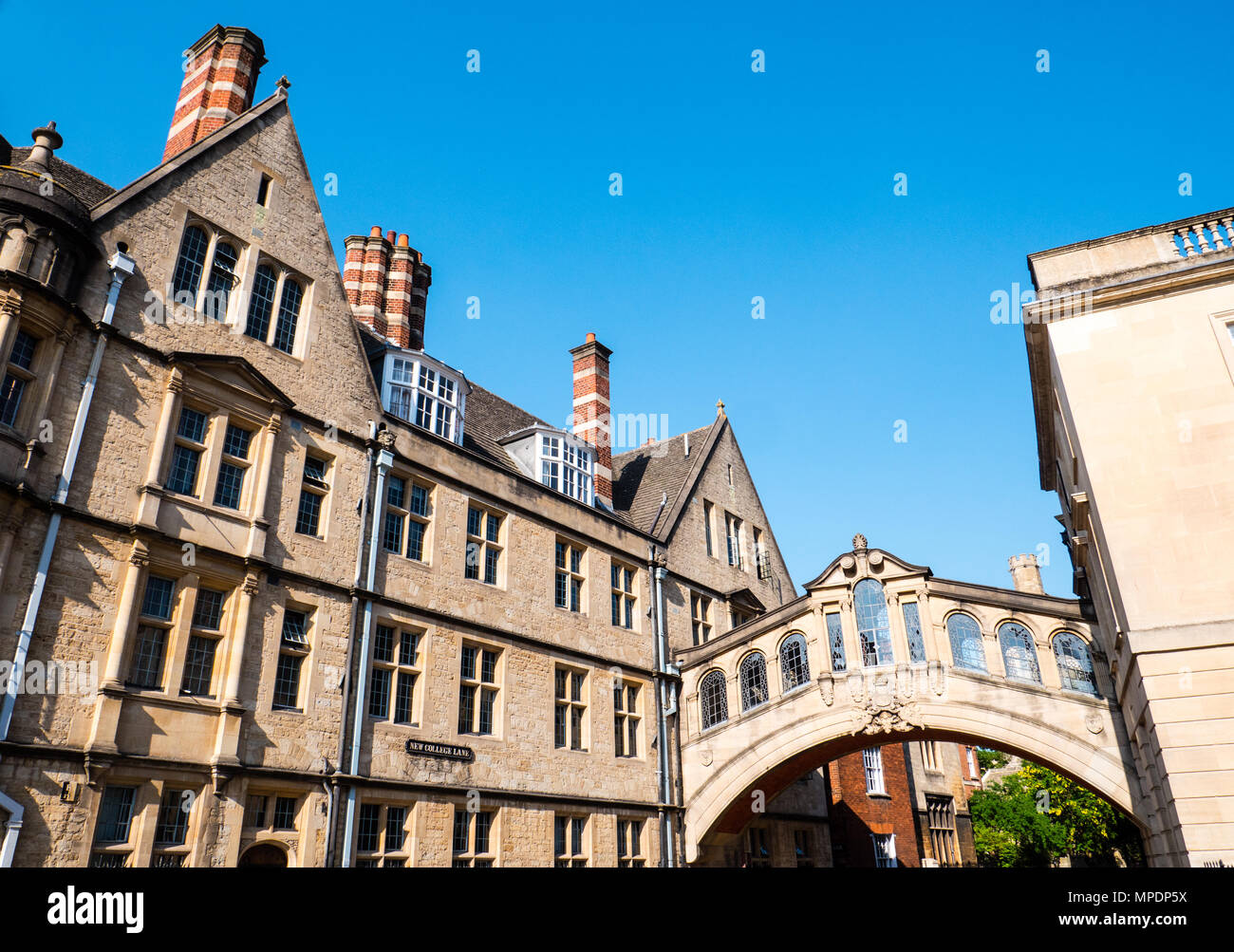 Pont des Soupirs, Skyway, Hertford College, New College Lane, Oxford, Oxfordshire, England, UK, FR. Photo Stock
