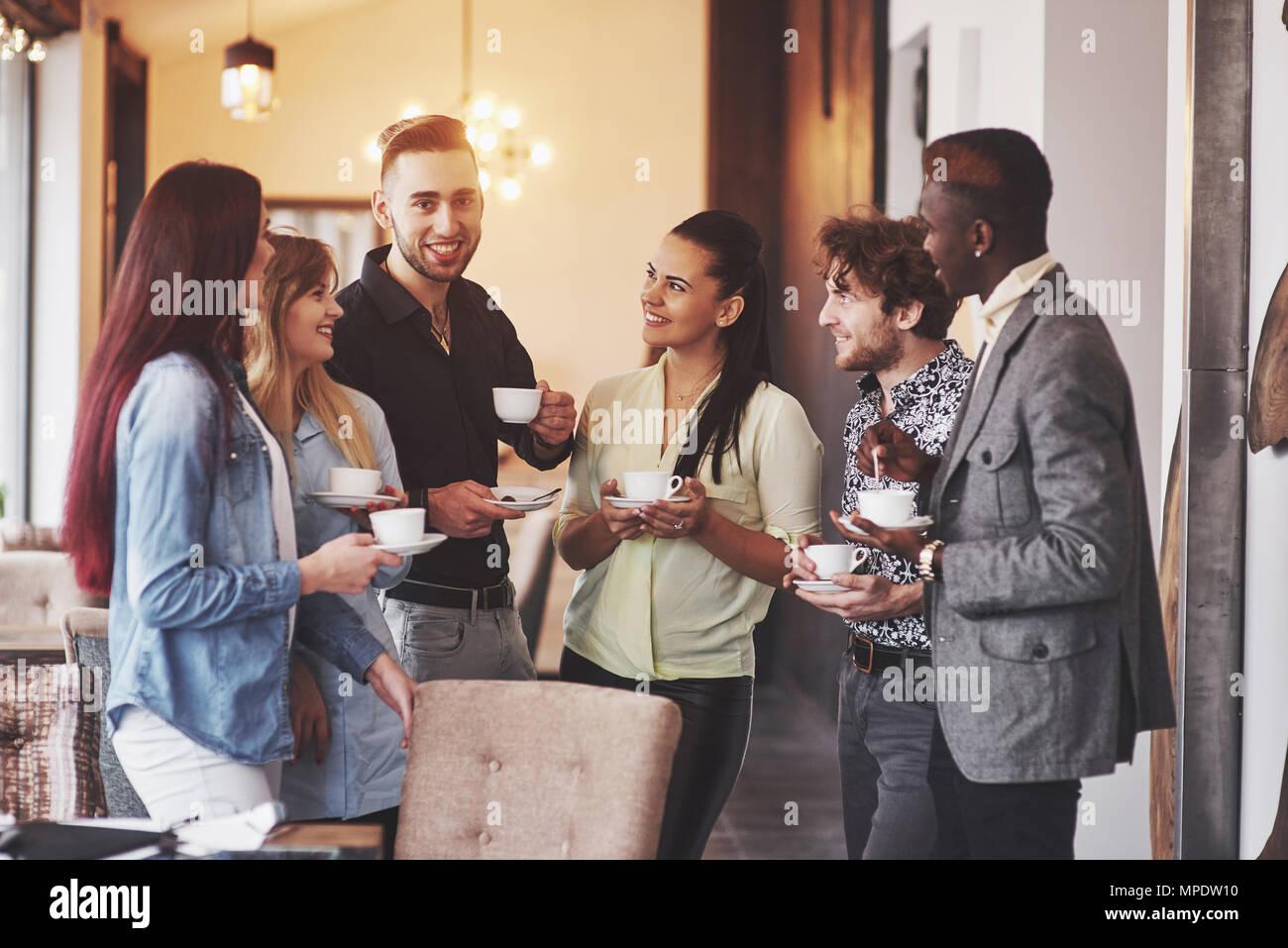 Pause café café entreprise événement Célébration partie. Le travail d'équipe Concept de réflexion Photo Stock