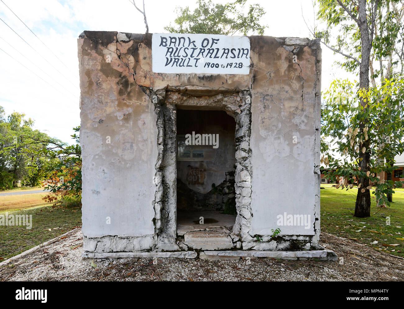 Ruines de Bank of Australasia vault dans la petite ville rurale de Chillagoe, Far North Queensland, Queensland, Australie, FNQ Photo Stock