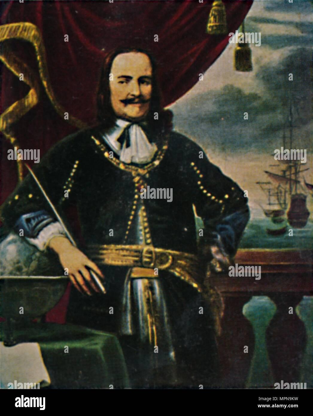 """""""L'amiral de Ruyter 1607-1676. - Gemälde von F. Bol', 1934. Artiste: Inconnu. Photo Stock"""