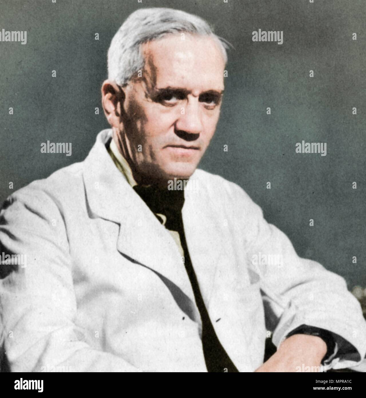 Alexander Fleming, bactériologiste écossais, c1930s. Artiste : Inconnu. Photo Stock