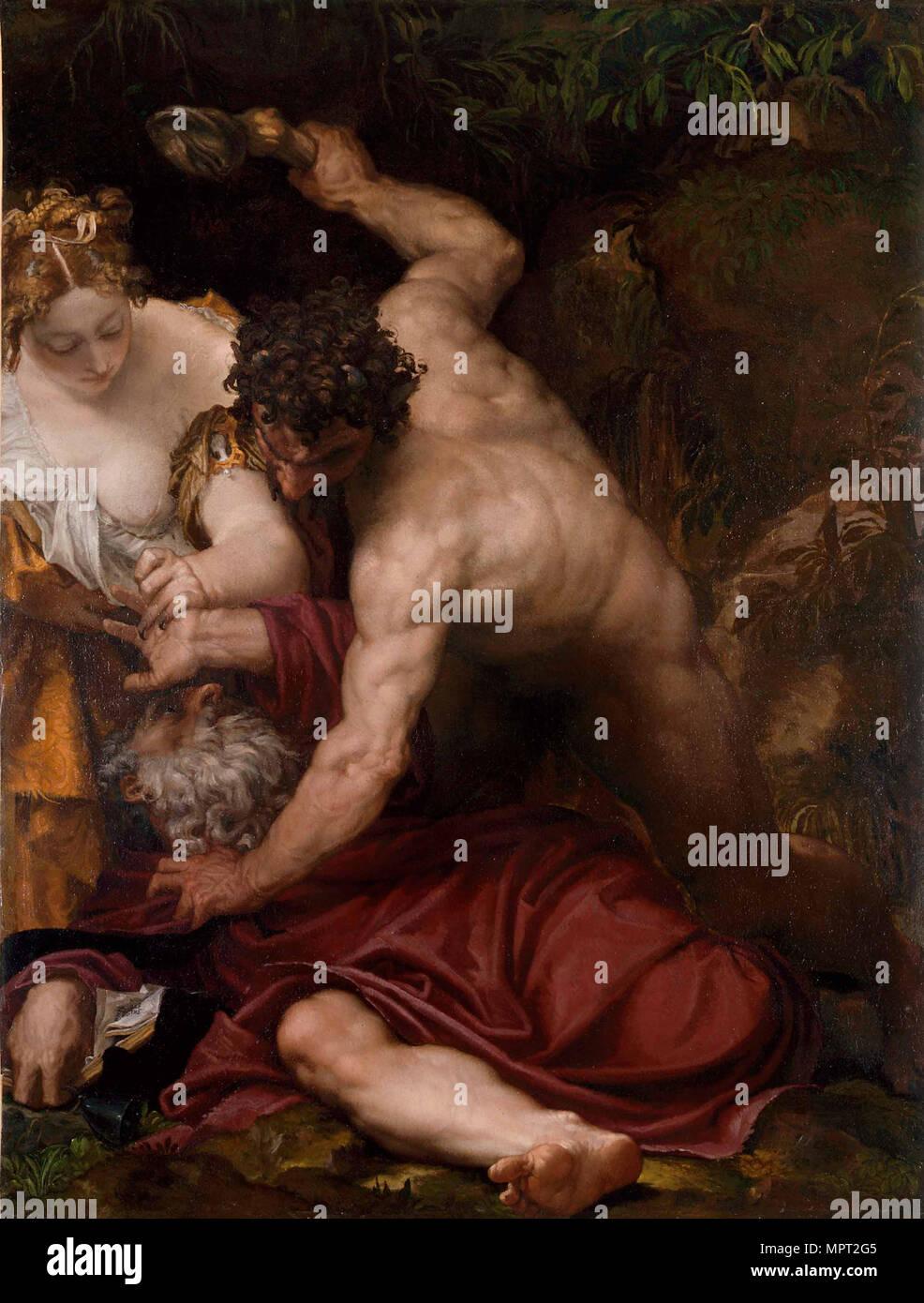 La Tentation de Saint Antoine, 1552-1553. Photo Stock