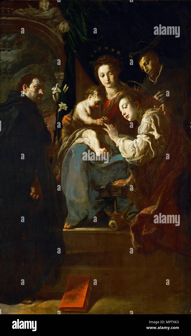 470a7874fed Le Mariage mystique de Sainte Catherine avec les Saints Dominique et Pierre  Martyr.