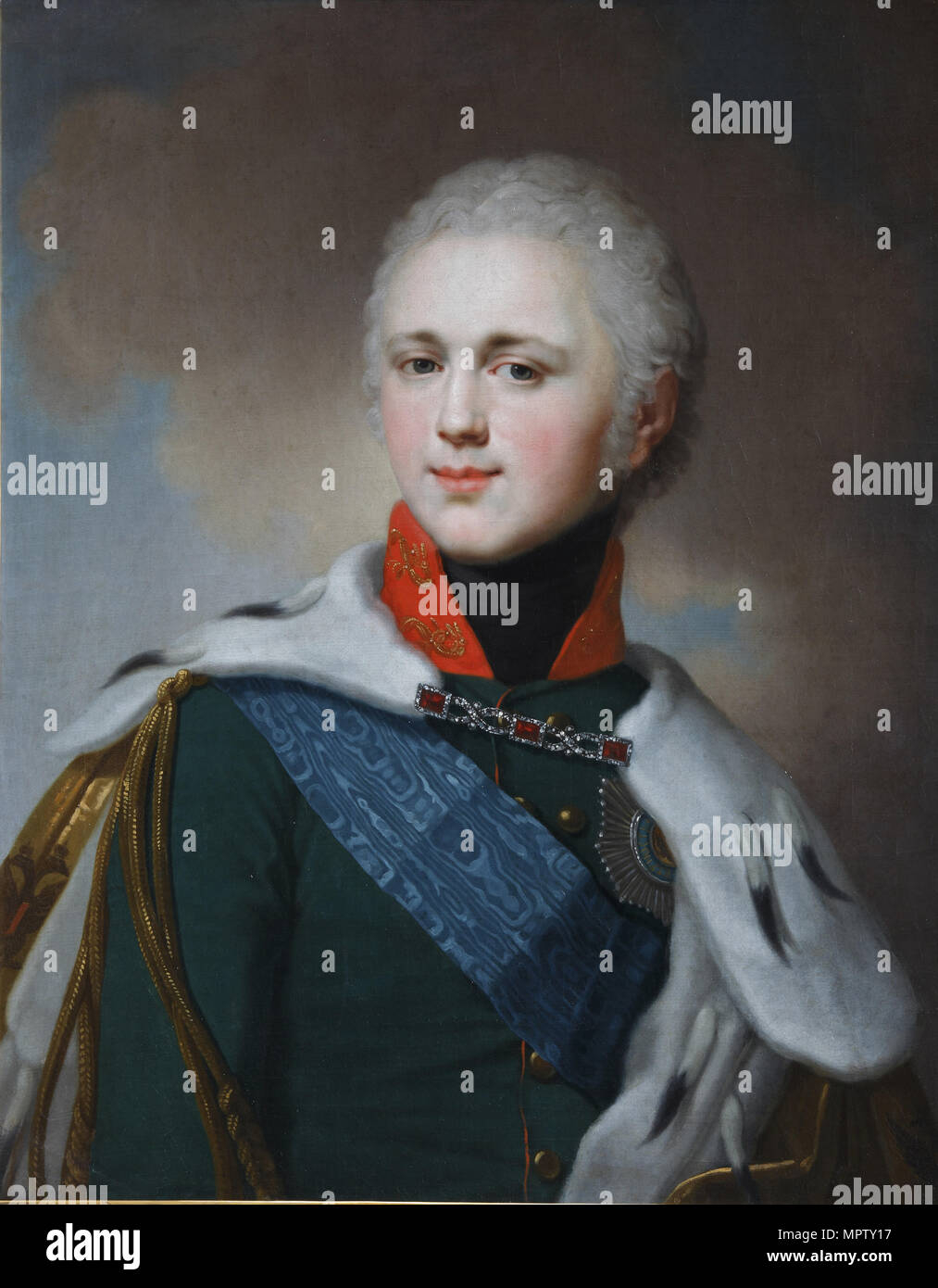 Portrait de l'empereur Alexandre I (1777-1825). Photo Stock