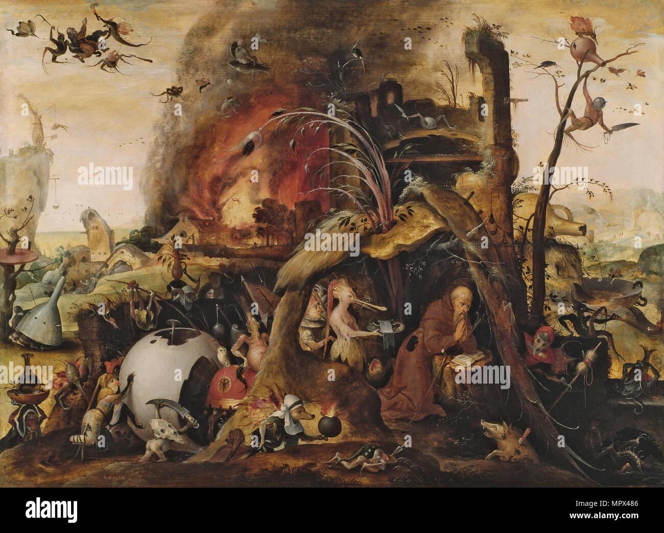 La Tentation de Saint Antoine, c. 1550. Photo Stock