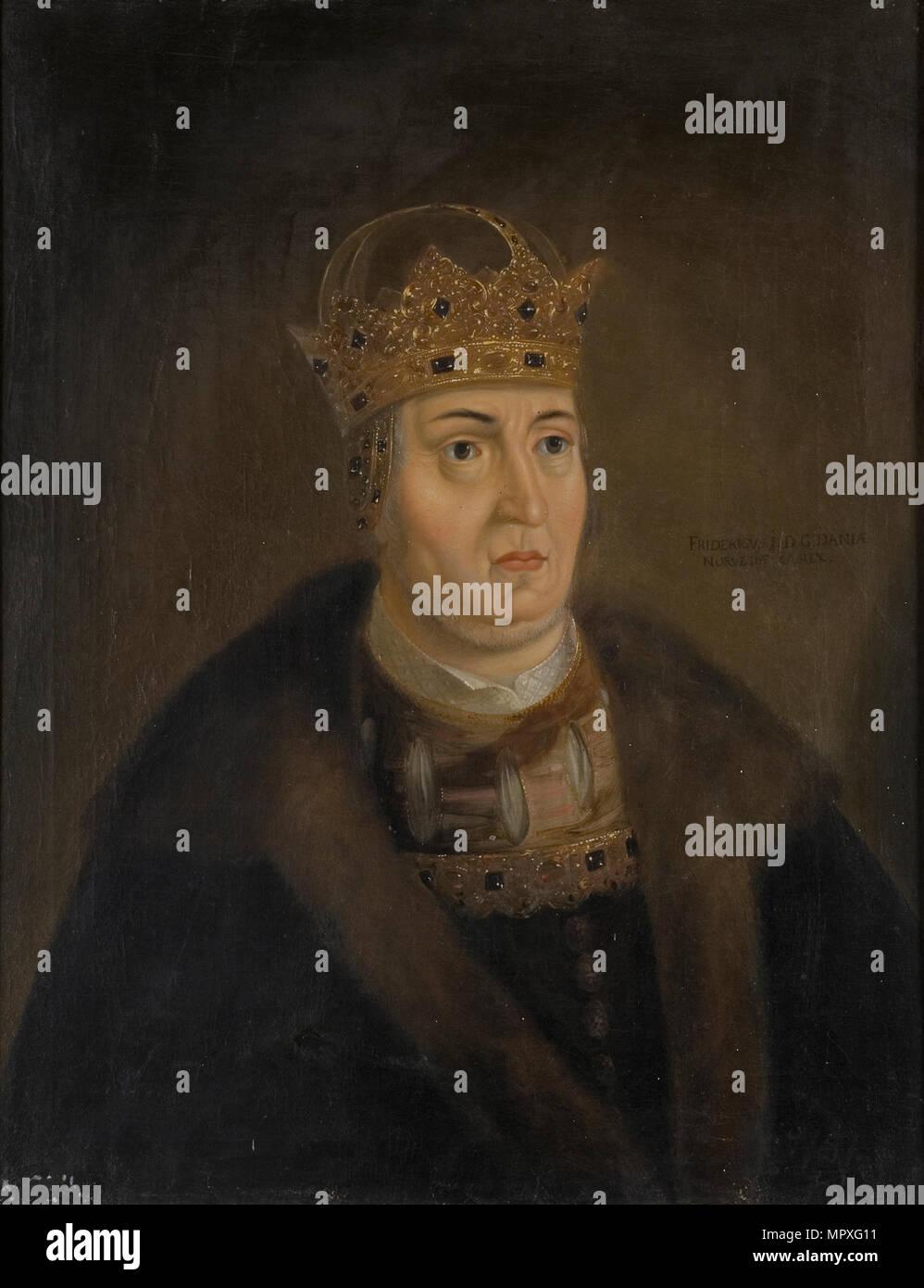 Portrait du roi Frédéric Ier de Danemark (1471-1533). Photo Stock