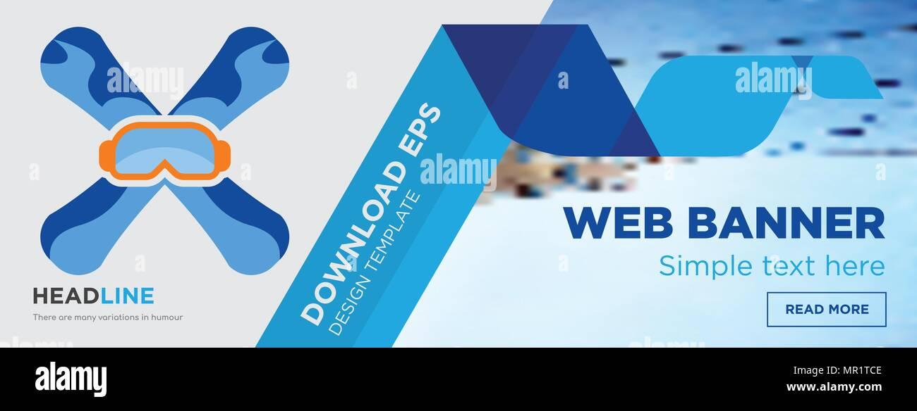 Concept De Snowboard Page Web Template Design Banniere Horizontale