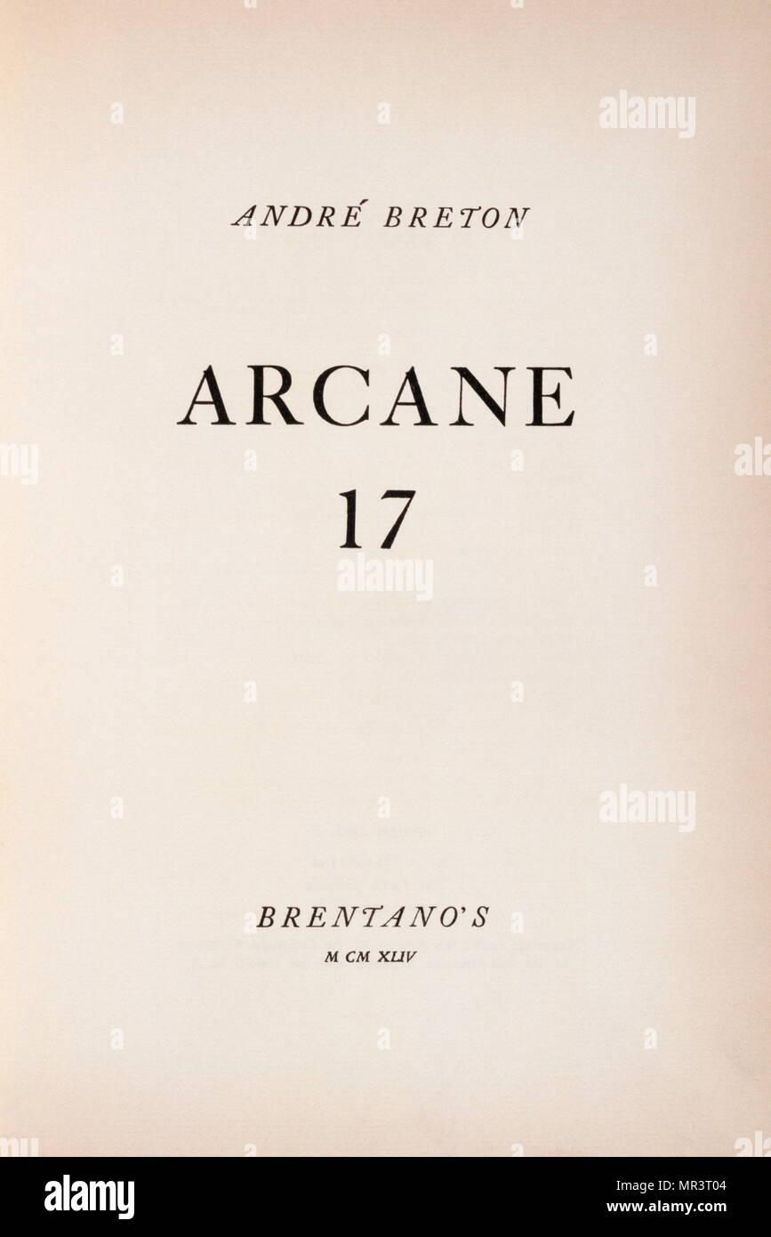 Page De Titre De Arcane 17 Par André Breton En 1944
