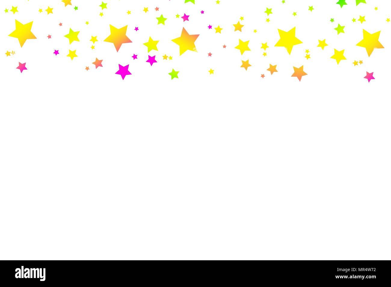 Chute D Etoiles Multicolores De Confettis Arriere Plan De Fete Lumineuse De Luxe Rose Vert Bleu Turquoise Violet Abstract Etoile Sur Un Fond Blanc Element De Design Vector Illustration Image Vectorielle Stock Alamy