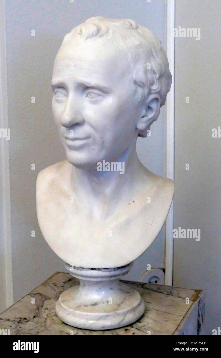 Buste de Jean Le Rond D'Alembert par Guillaume Francin 1741-1830. Jean-Baptiste le Rond D'Alembert (1717 - 1783) était un mathématicien français, scientifique américain, physicien, philosophe et théoricien de la musique. Photo Stock