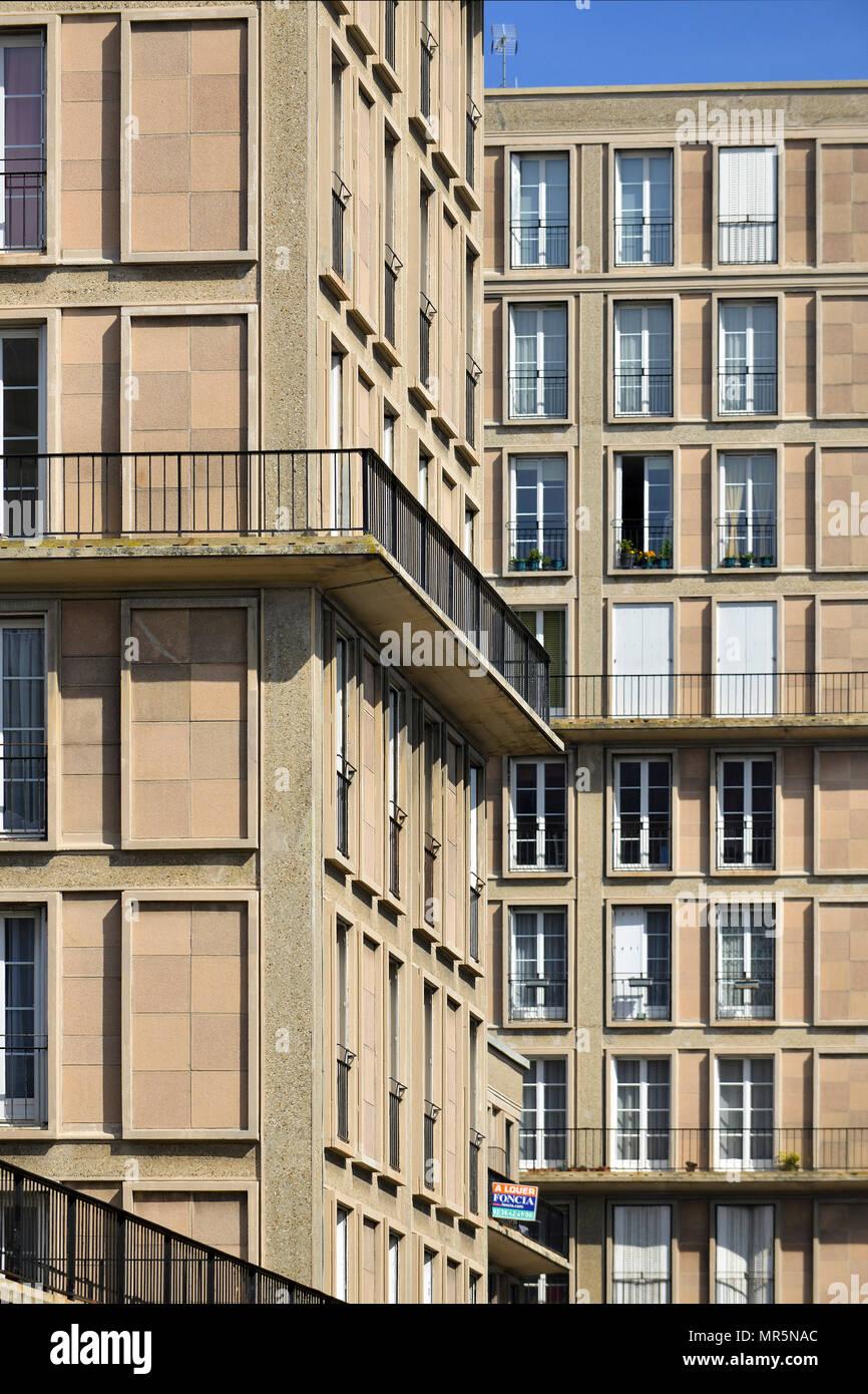 le havre (normandie, nord ouest de la france) : isai, immeubles sans