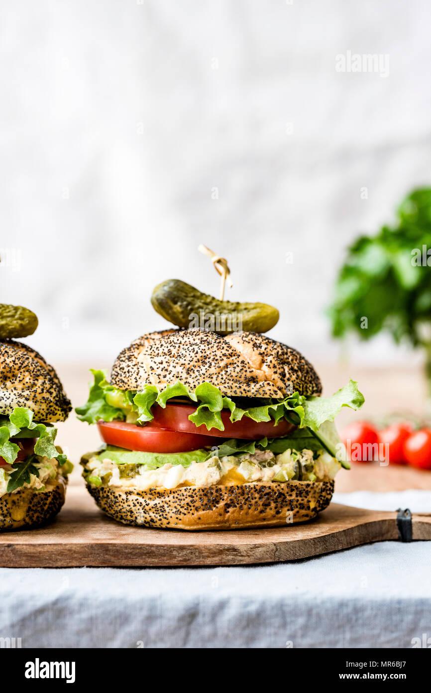 Sandwich au thon Melt Banque D'Images