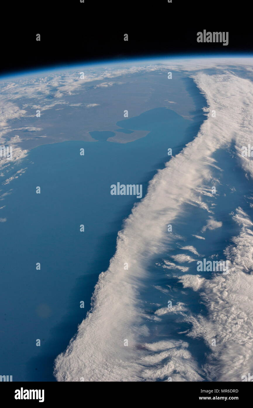 Par l'observation de la terre, de l'expédition 36 de la Station spatiale internationale (ISS) en 2014 Photo Stock