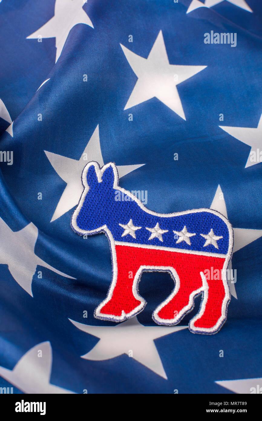 Démocrate symbole Donkey USA Politic Veste Sac à dos Shirt Applique iron on patch