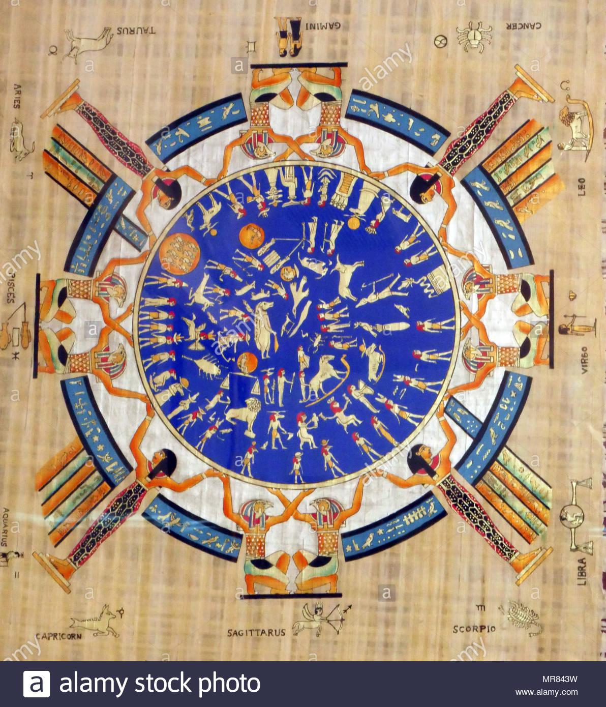 papyrus version du zodiaque sculpt s dend rah dend rah ou. Black Bedroom Furniture Sets. Home Design Ideas