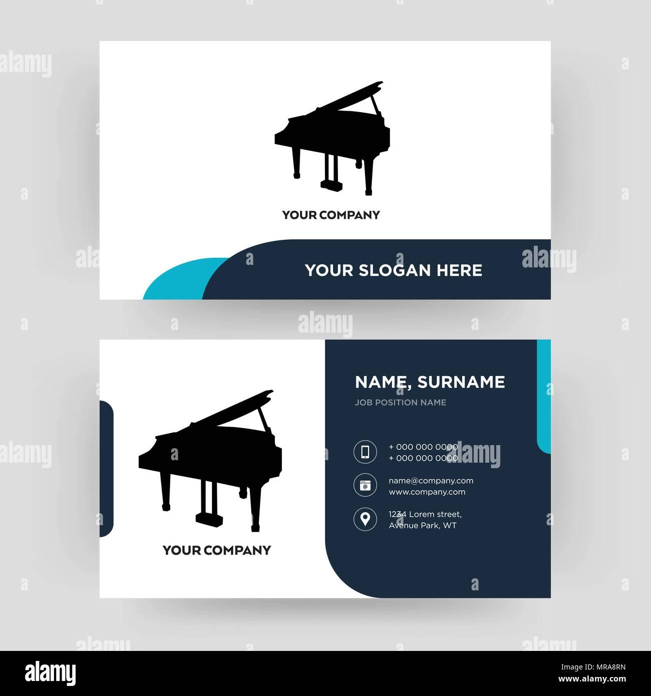 Grand Piano Carte De Visite Modle Conception Pour Votre Entreprise Crative Et Moderne Didentit Propre Vector