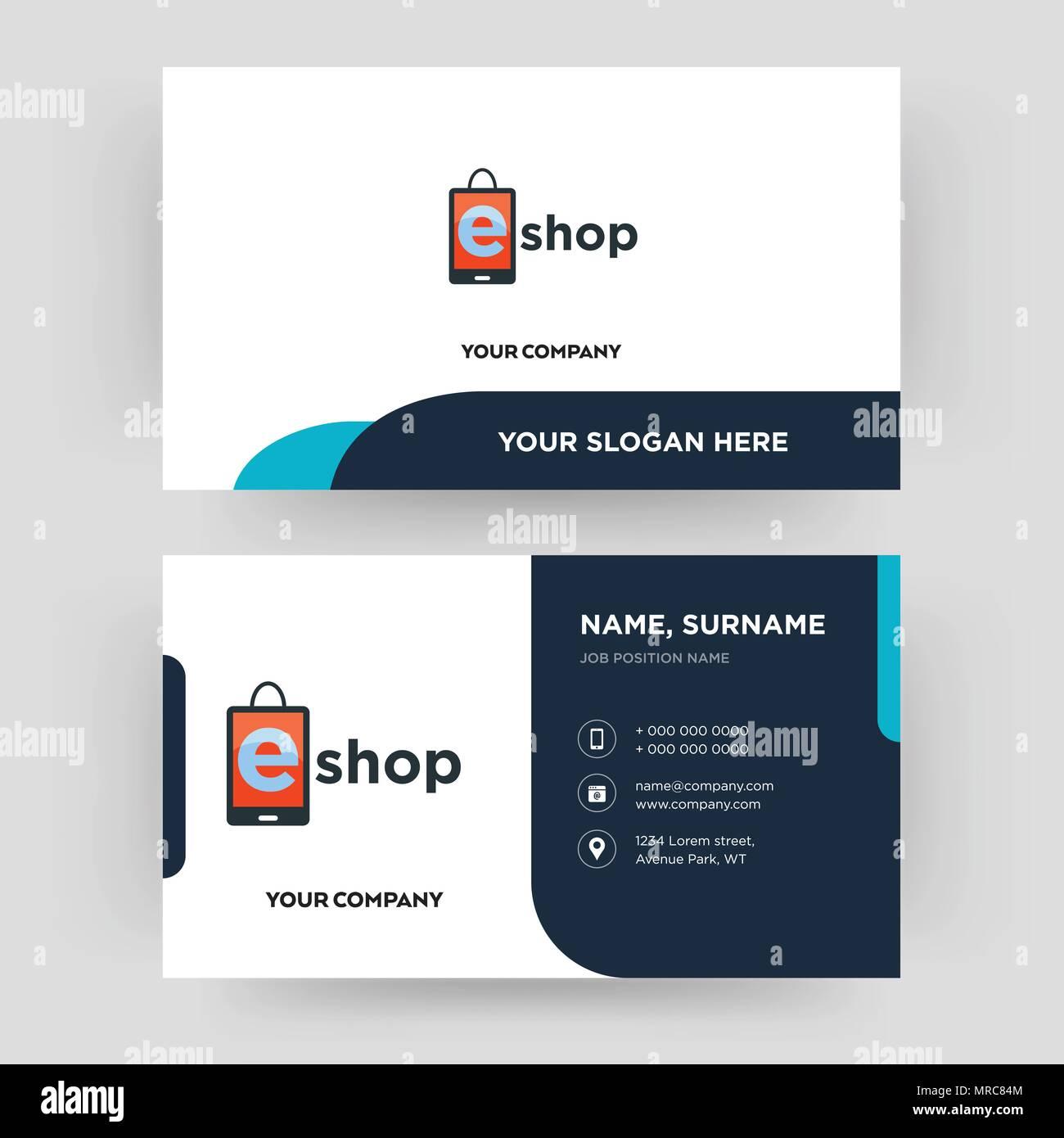 La Boutique En Ligne Carte De Visite Modele Conception Pour Votre Entreprise Creative Et Moderne Didentite Propre Vector