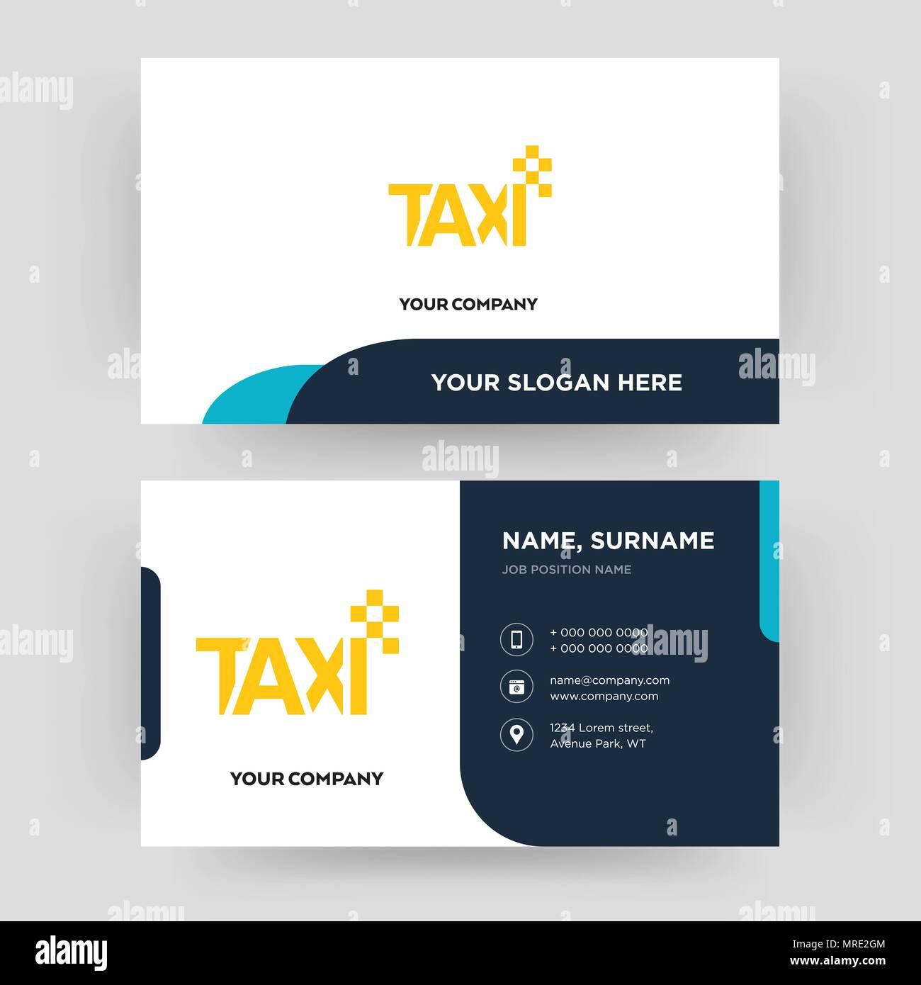 Taxi Carte De Visite Modele Conception Pour Votre Entreprise Creative Et Moderne Didentite Propre Vector