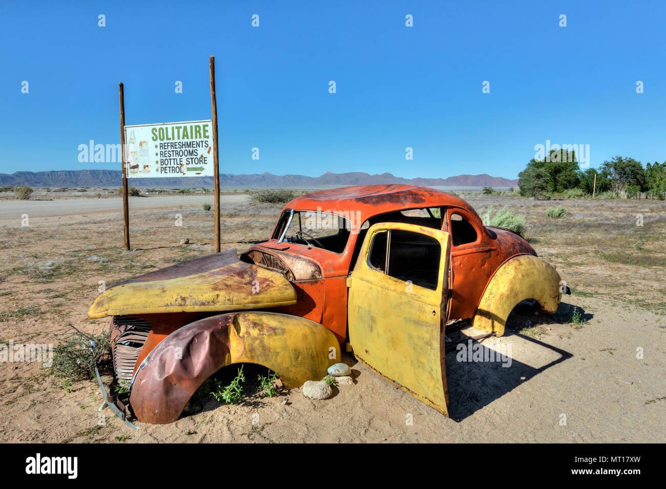 Solitaire, Khomas Region, désert du Namib, Namibie, Afrique Photo Stock