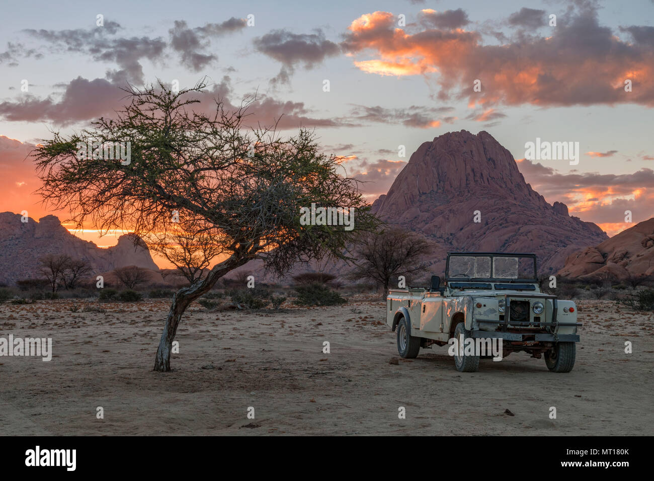 Spitzkoppe, Usakos, Namibie, Afrique du Sud Photo Stock