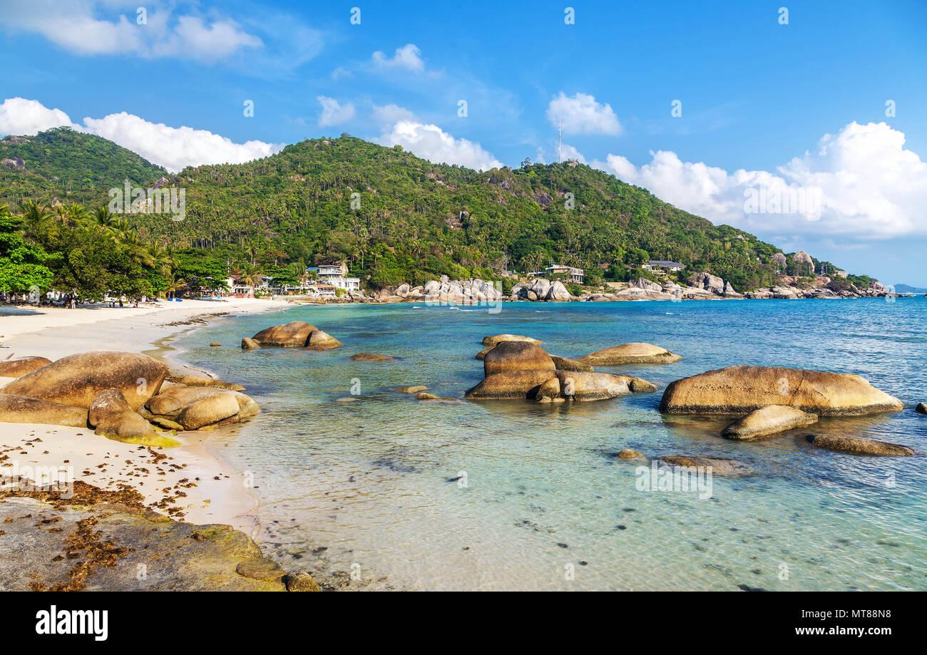 Crystal Bay sur l'île de Koh Samui en Thailande Photo Stock