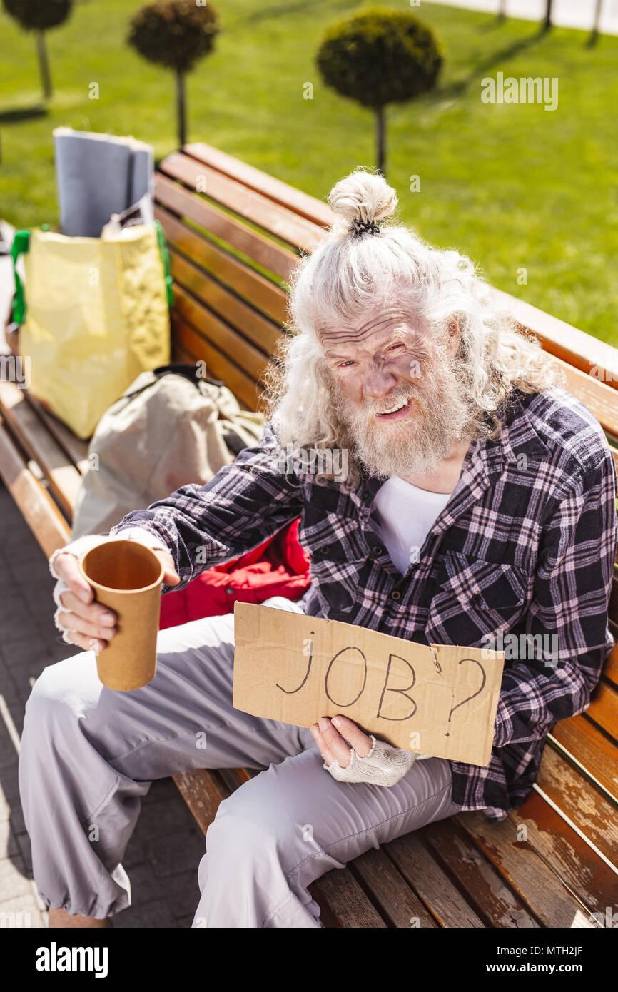 Chômeur déprimé à la recherche d'un emploi Photo Stock