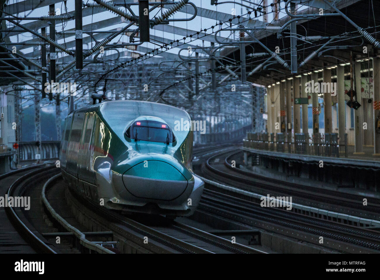 Tohoku Shinkansen E5, série Tsumkwe, Nasushiobara City, Préfecture Tochigi, Japon Photo Stock