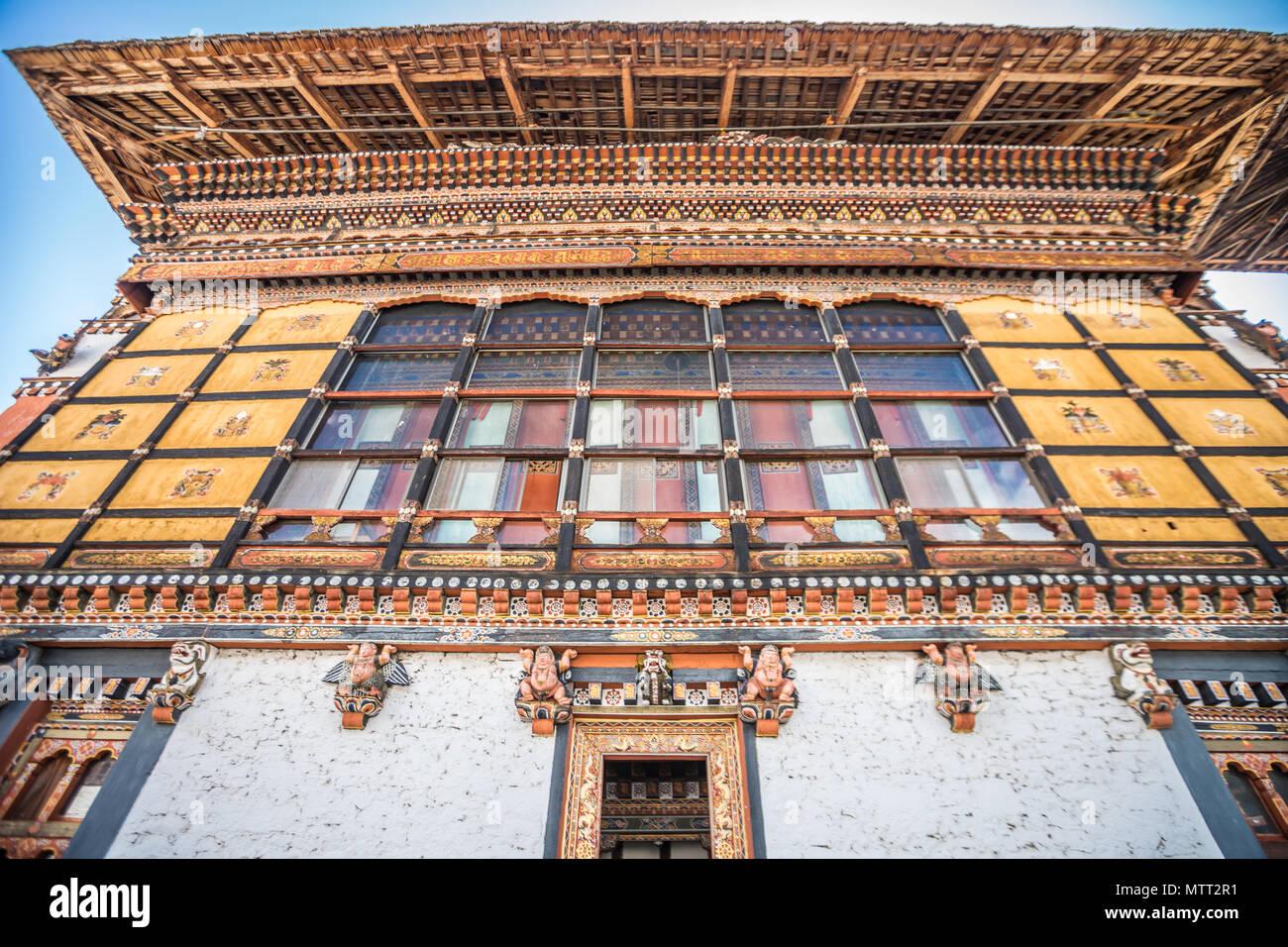 Thimphu Dzong du Bhoutan Photo Stock