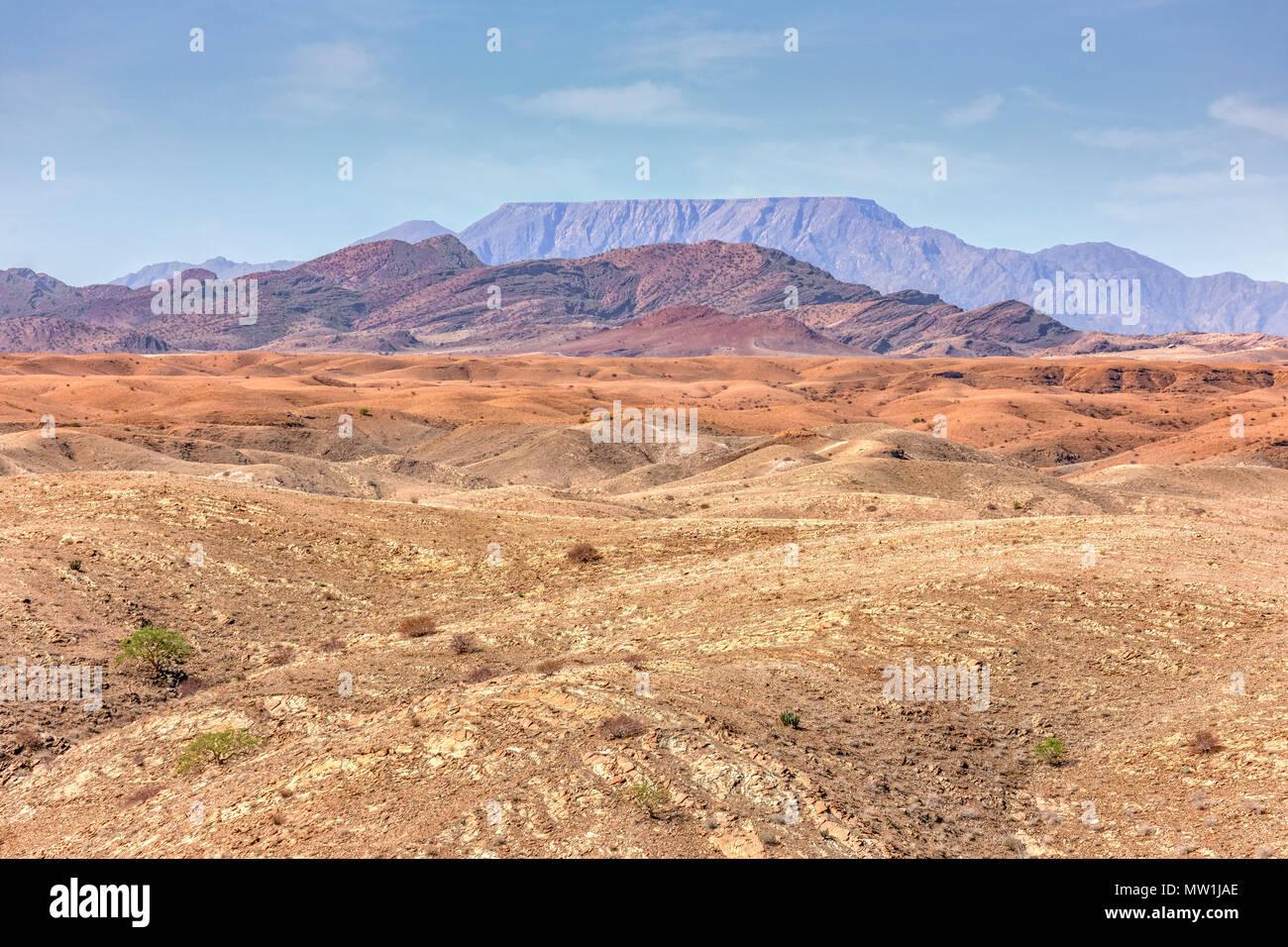Paysage lunaire, désert du Namib, Namibie, Afrique Banque D'Images