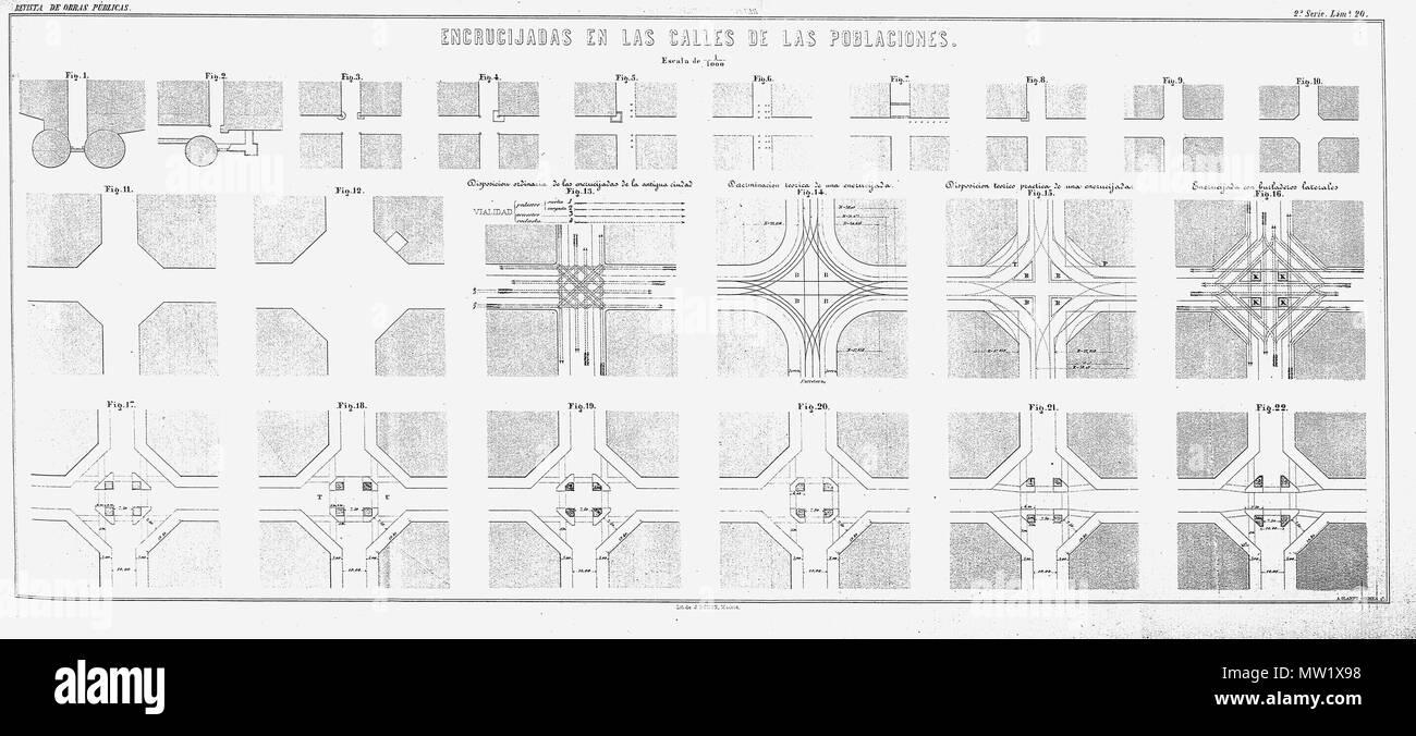 Carte Eixample Barcelone.Francais Eixample De Barcelone Planol De L Encreuament De