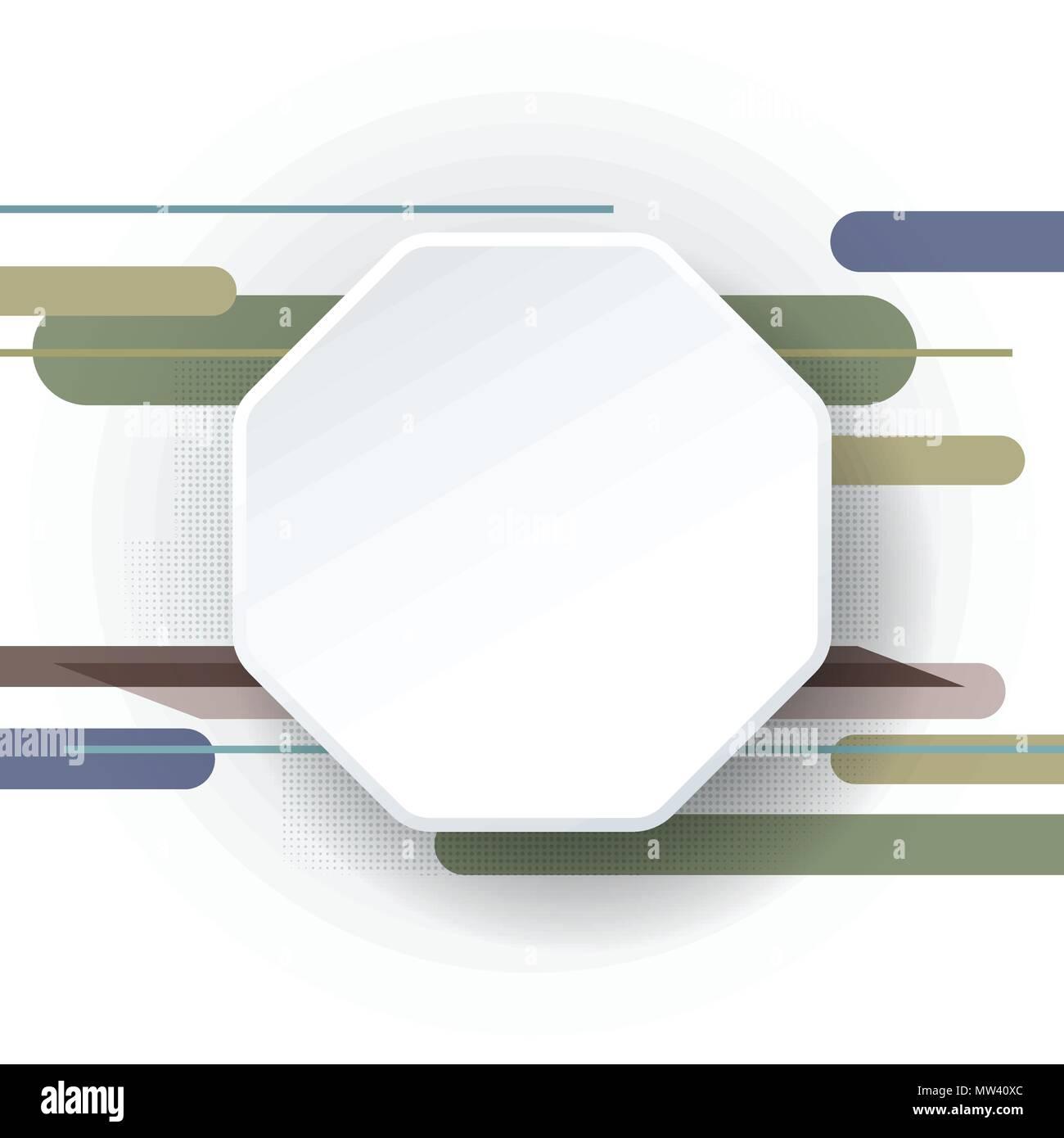 Vector Blanc Livre Vide De Hexagones3d Etiquette