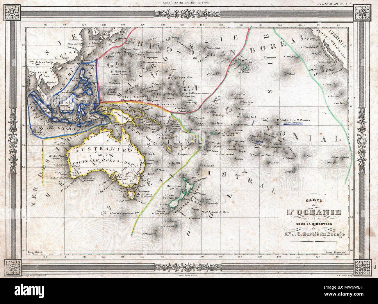 Carte Australie Malaisie.Bocage Map Of Australia And Polynesia Photos Bocage Map Of