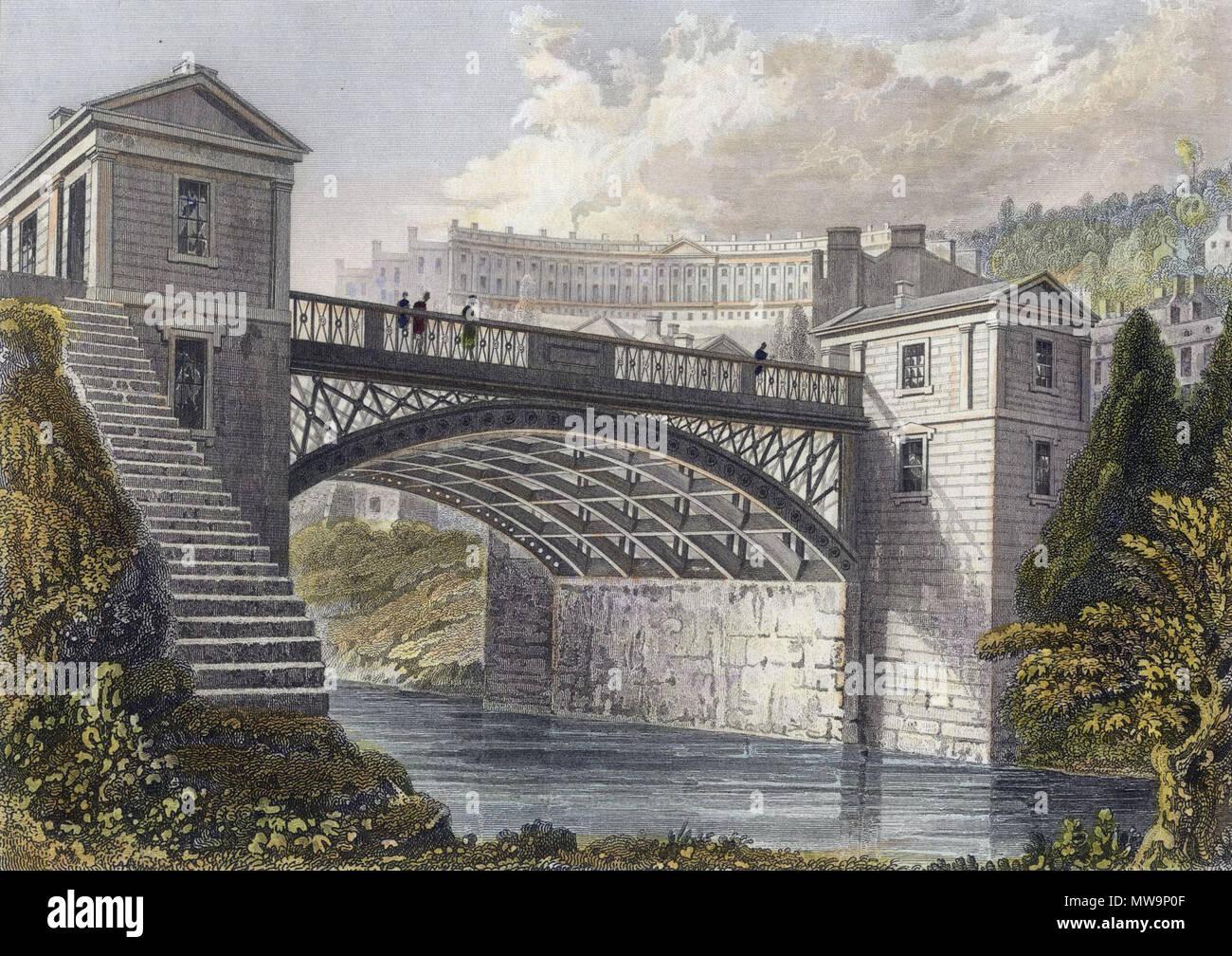 Le Nouveau Pont à Bathwick Bath Angleterre Cest Une