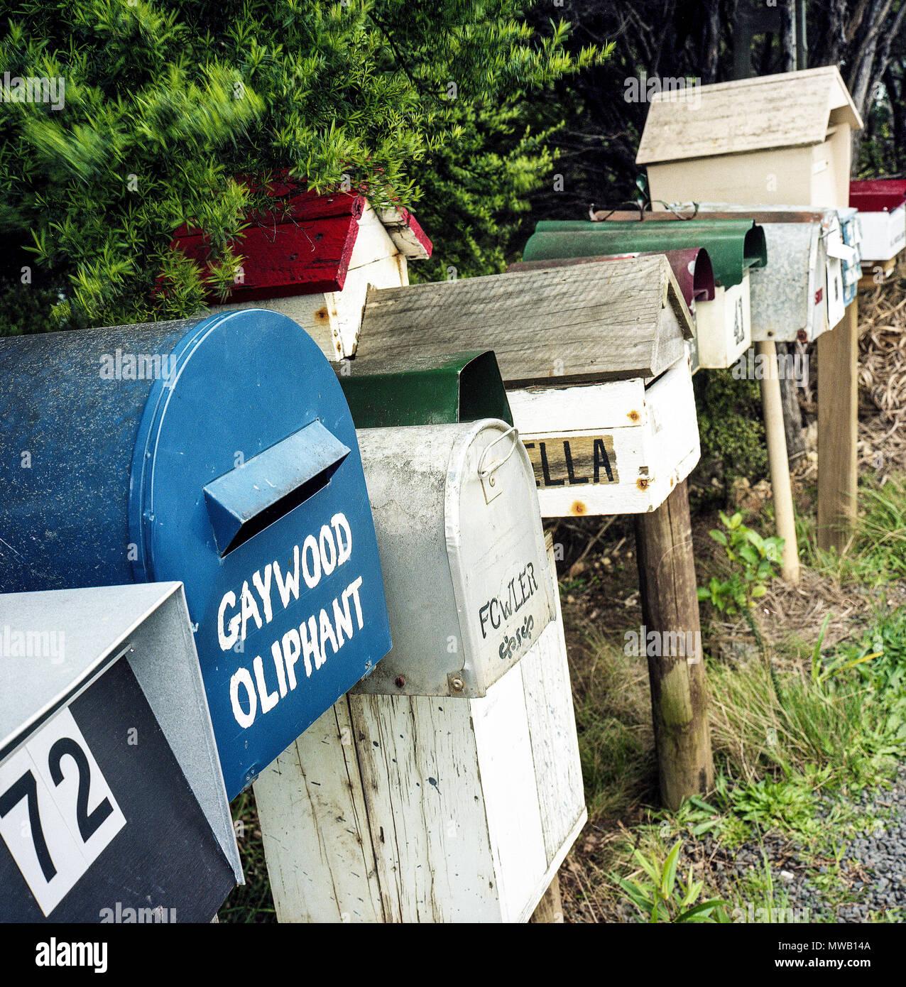 Île de Waiheke Auckland Nouvelle Zelande. photos Neville Marriner numérisées à partir de film Photo Stock