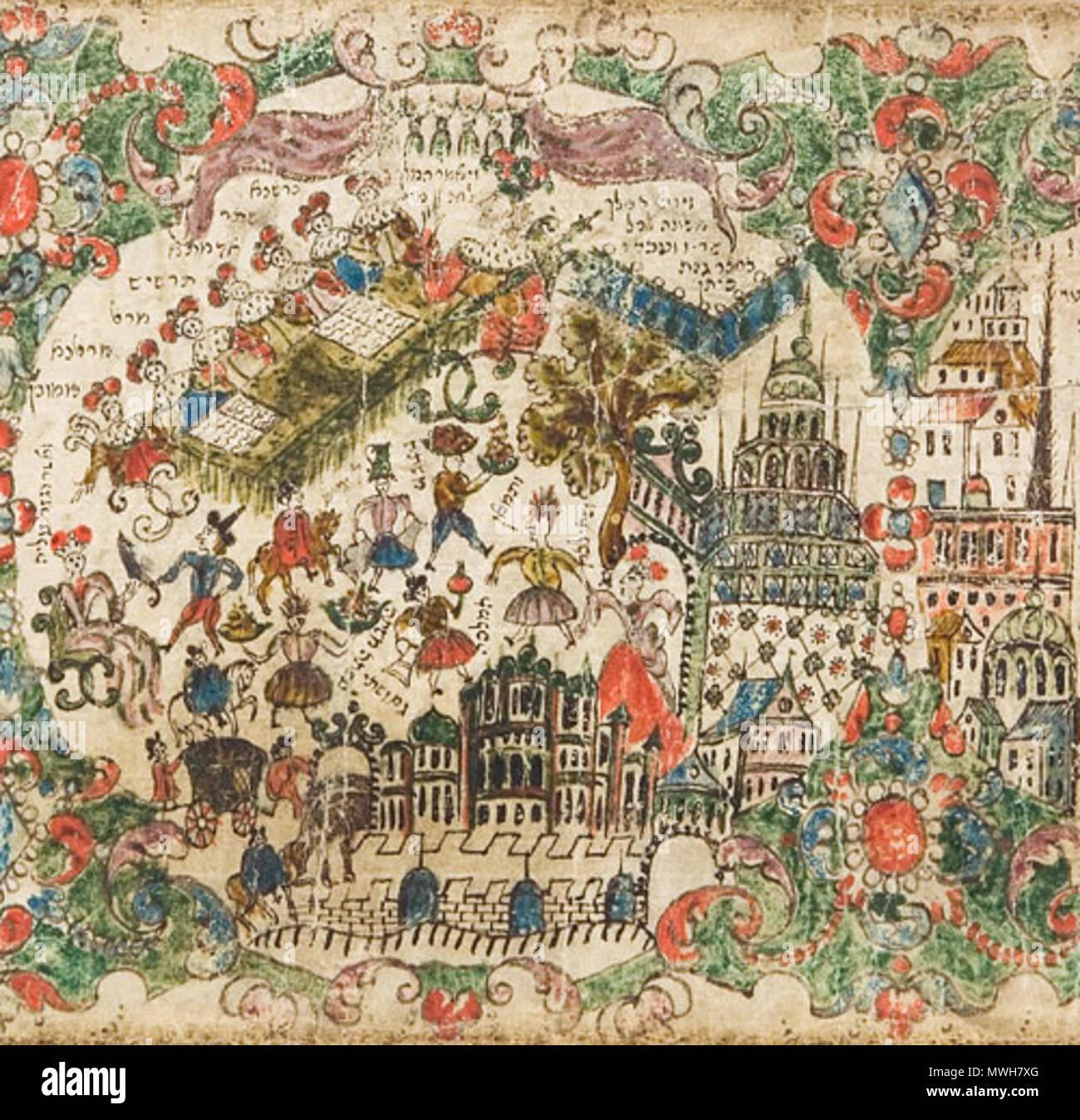 Anglais Un Illustre Du Debut Du Xviiie Siecle Manuscrit