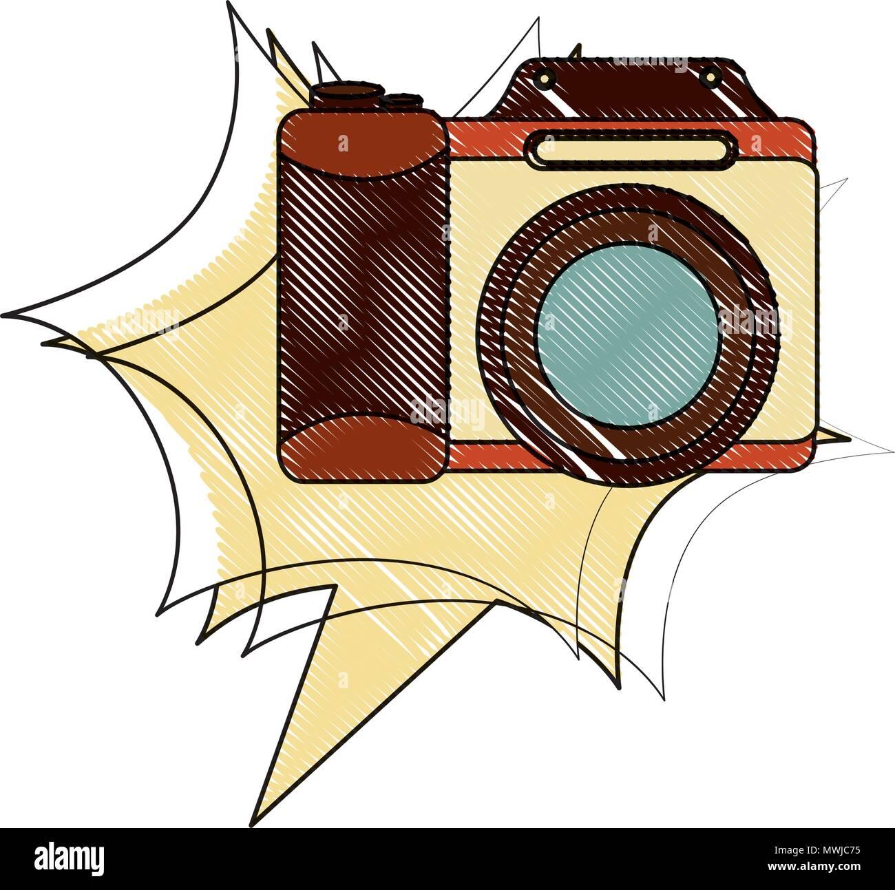 Objectif De L Appareil Photographique Vintage Retro Dessin