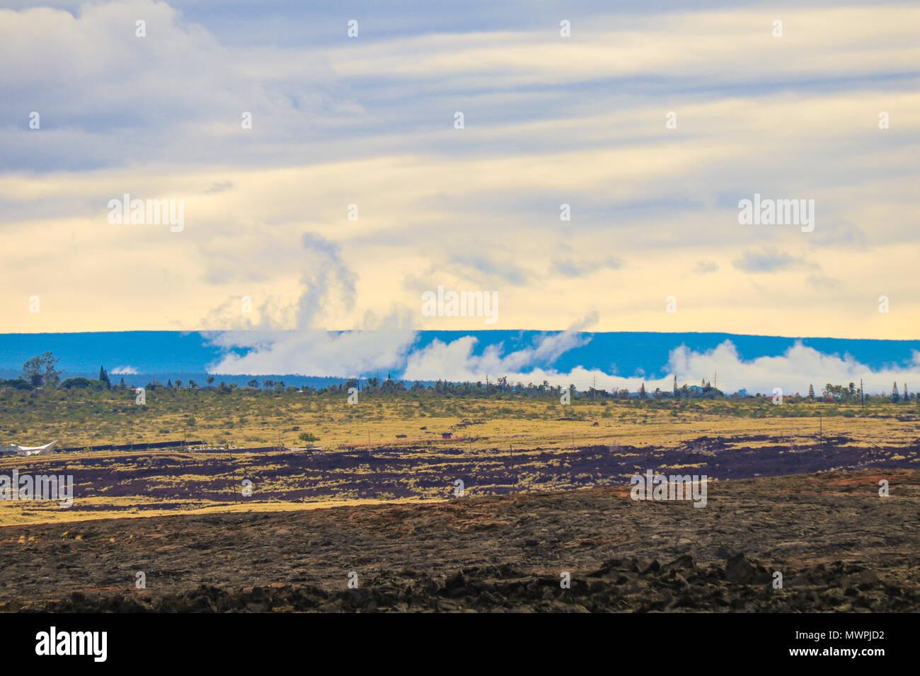 Parc national de Haleakalā - une belle et écosystème diversifié et accueil à la plus spectaculaire lever du soleil sur la planète. Maui, Hawaii, USA Banque D'Images