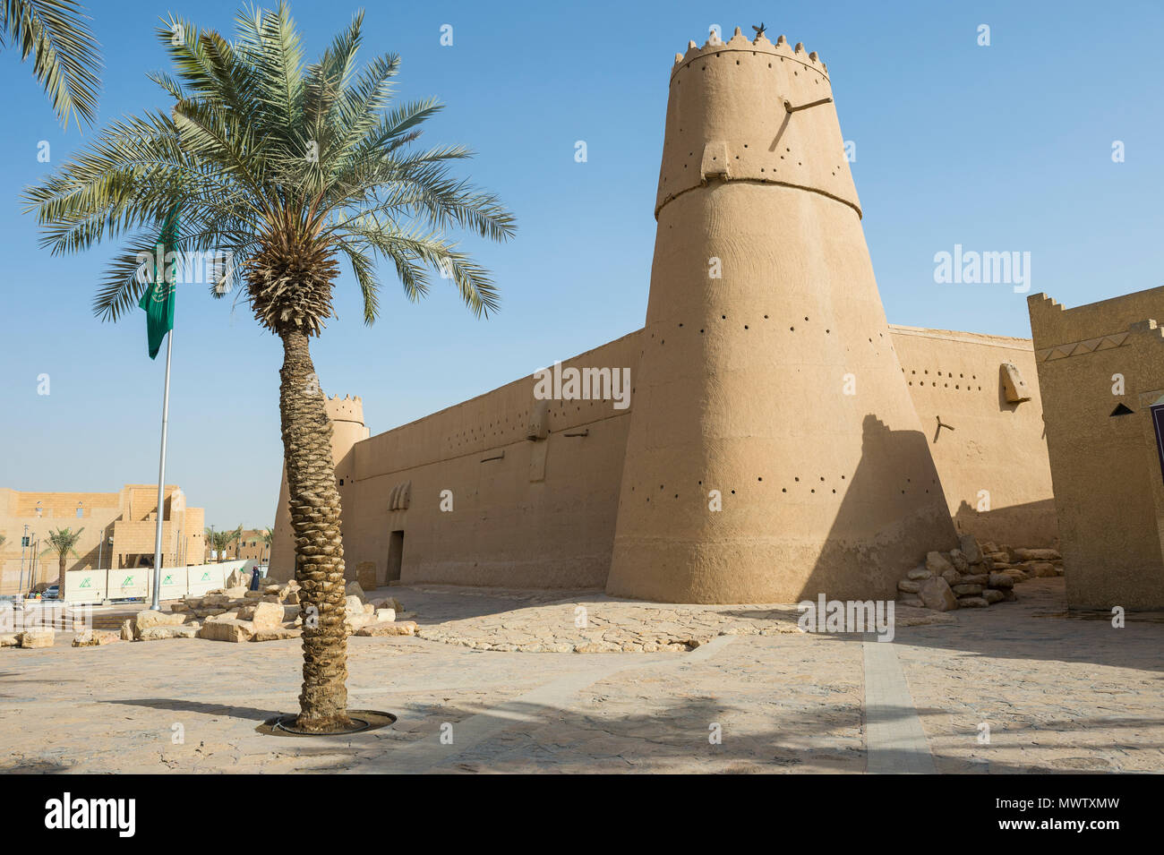 Masmak Fort, Riyadh, Arabie saoudite, Moyen Orient Photo Stock