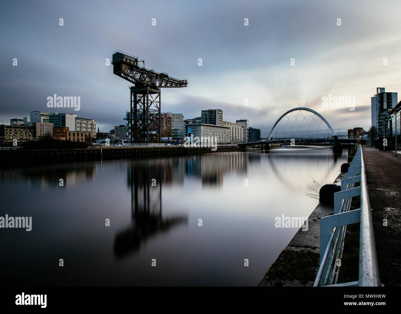 L'Arc, Rivière Clyde Clyde, Glasgow, Écosse, Royaume-Uni, Europe Banque D'Images
