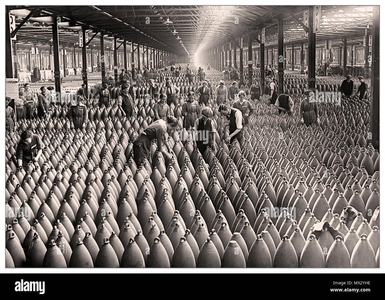 La première Guerre mondiale Shells Ammunitions Factory UK l'usine de remplissage de munitions de Chilwell, Grande-Bretagne, WW1 plus de 19 millions d'obus ont été remplis d'explosifs ici par 10,000 travailleurs entre 1915 et 1918, au cours de la première Guerre mondiale. L'usine a rempli plus de la moitié des obus britanniques pendant la première Guerre mondiale. Banque D'Images