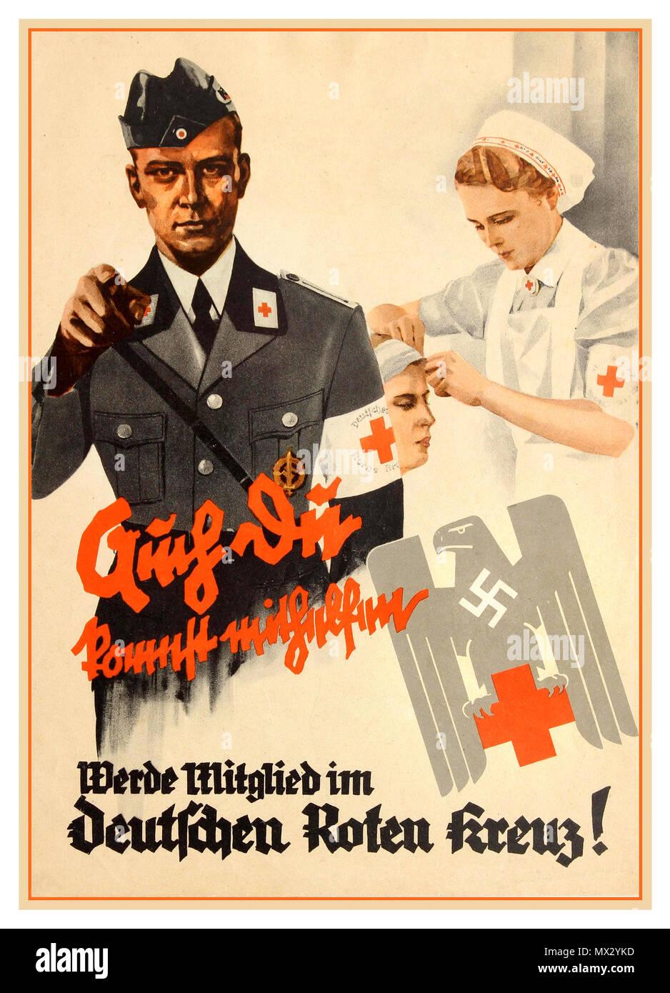 Photo affiche allemande 1940 Faites confiance au soldat allemand WW2