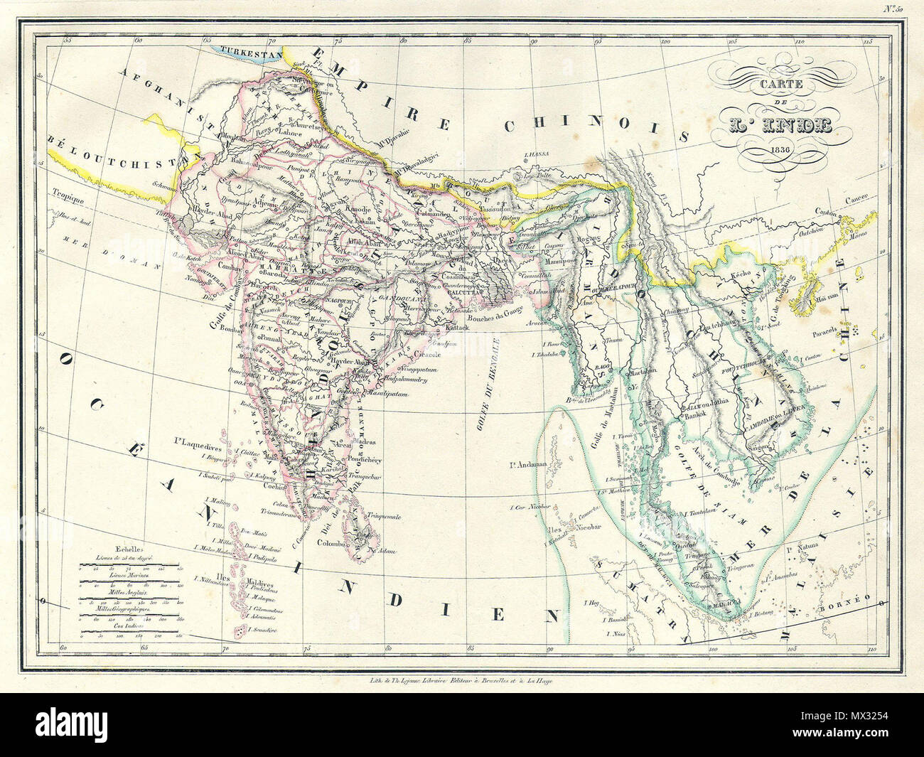 Carte De Linde Du Sud Cochin.Carte De L Inde Anglais Il S Agit D Une Belle