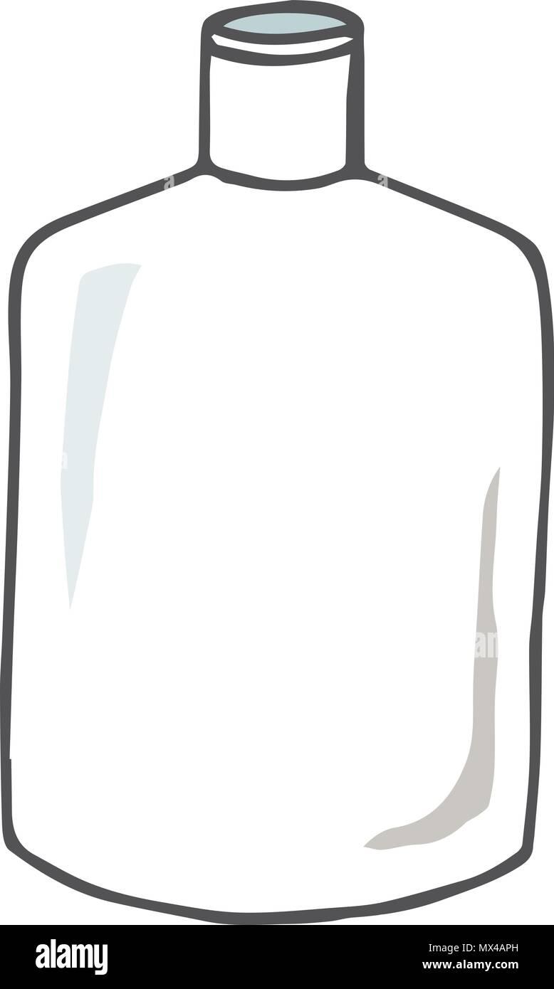 bouteille vide dessin illustration vecteur style doodle texture couleur plats vintage ancien. Black Bedroom Furniture Sets. Home Design Ideas